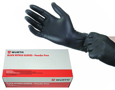 Genuine Wurth Powder Free Mechanic Tattoo Disposable Nitrile Gloves 100 Large