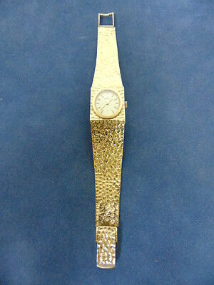 WOMENS VINTAGE ESTATE SOLID 14K YELLOW GOLD NUGGET ANGELUS WATCH 49.6g