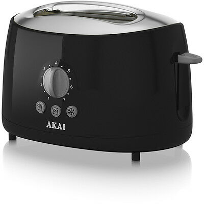 NEW Akai A20001B Two Slice Cool Touch Toaster - Black