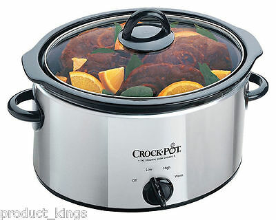 Brand New Crock-Pot SCV400PSS 3.5L Stainless Steel Slow Cooker