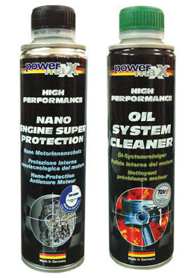 NANO ENGINE SUPER PROTECTION cod.33181 + OIL SYSTEM CLEANER cod. 33018