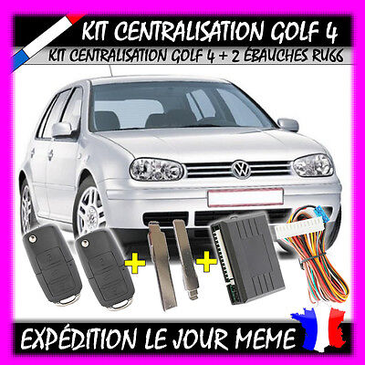 KIT TELECOMMANDE CENTRALISATION CLE TYPE VW VOLKSWAGEN VW GOLF 4 1.4 1.6 16v