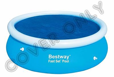 Bestway 8'Ft Round Swimming Paddling Solar Pool Cover Sheet for Fast Set Pool