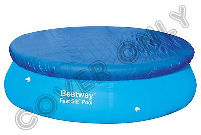 Bestway 10Ft Swimming Pool Cover Round Paddling Sheet Fast Set Garden Outdoornew