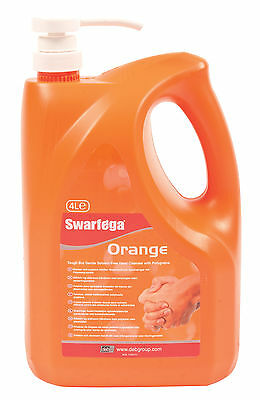 4 x Swarfega Orange 4lt pump bottle polygrain hand cleaner 4 SOR4LMP case box