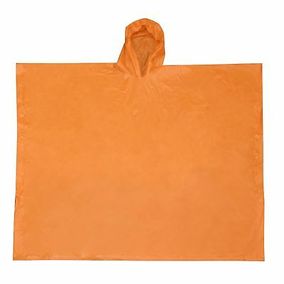 Ultimate Survival Technologies All-Weather Poncho Youth Orange w/Elastic Hood