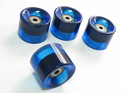 4x set 60mm 78a Blue Roll Wheels for Longboard Skateboard with Abec 7 Bearing