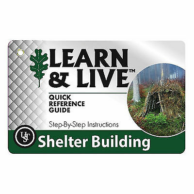 Ultimate Survival Technologies Learn & Live Shelter Building Cards Pocket Guide