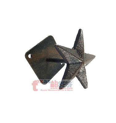 Cast Iron Star Wall Hook Hanger Purse Cap Coat Hat Decorative Detailed Western
