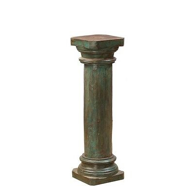"""36"""" Tall Emily Bookstand Pillar Hand Carved Solid Wood Antique Vintage Columns"""