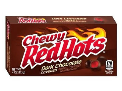 Red Hots Cinnamon Dark Chocolate Flavoured HOT - US Candy Theatre Size