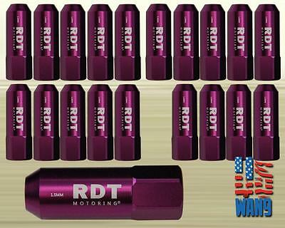Purple M12x1.5 60mm Aluminum Tuner Racing Wheel Lug Nut 20pcs for Honda Acura