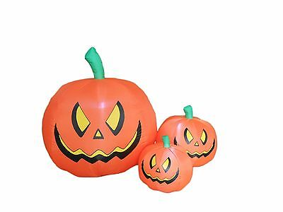 Halloween Inflatable Three Pumpkins Patch LED Lights Blowup New Yard Decoration