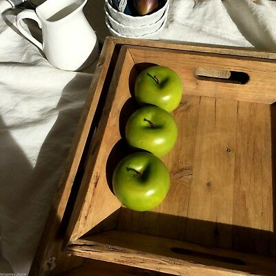 Square Wood Serving Tray Handmade 34cm