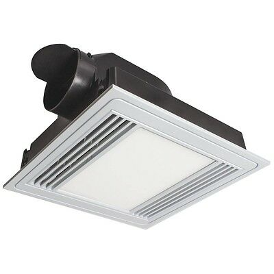 13W Tercel Square Exhaust Fan with LED Light White Brilliant Lighting 18192/05