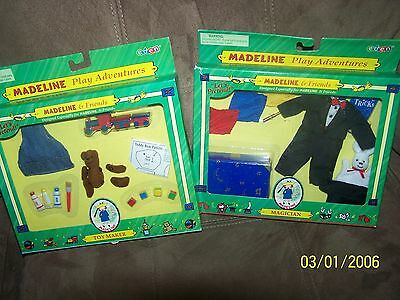 """Madeline Lets Pretend Set of 2 """"Toy Maker and Magician"""" - New!"""