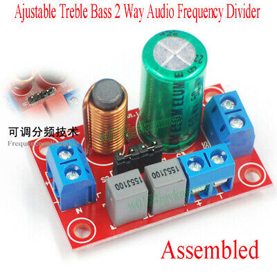 Ajustable Treble Bass 2 Way Audio Frequency Divider Speaker Crossover Filters