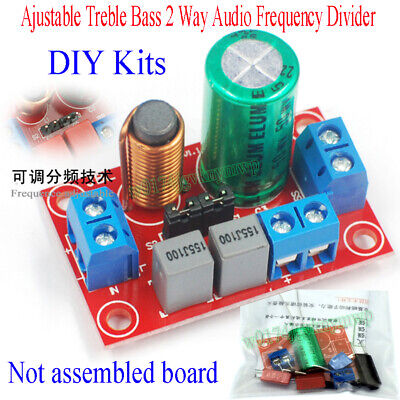 Ajustable Treble Bass 2 Way Audio Frequency Divider DIY Kits Crossover Filters