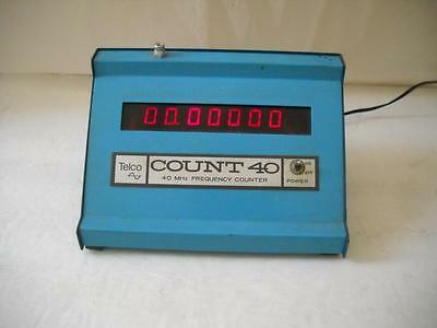 Vintage Telco Count Cb Ham 40 Mhz Frequency Counter Meter  # Ct- 40  Works