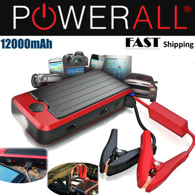 PowerAll Car Jump Starter DELUXE 12000mAh  & Portable Power Bank  w/ Carry Case