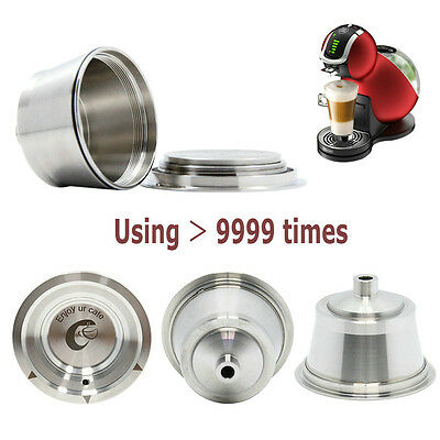 Stainless Steel Refillable Coffee Capsule for Nescafe Dolce Gusto Machine