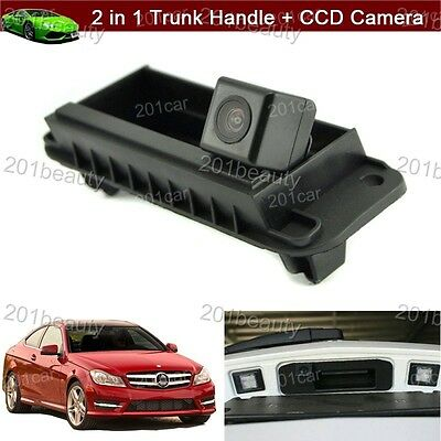 2in1 Trunk Handle + Reverse Camera Parking For Mercedes Benz W204 W212 C200 C180