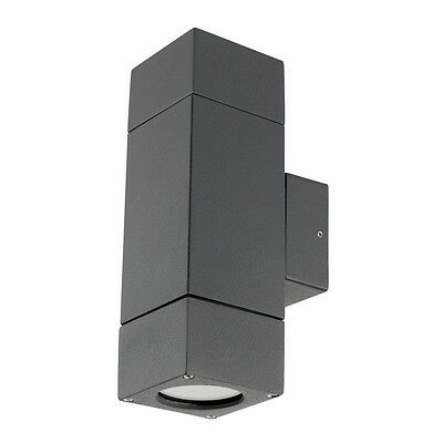 LED Prairie Up/Down Exterior Wall Light Charcoal Brilliant Lighting 17952/51