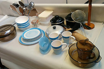 Blue Collection for Setting up House Assortment of Kitchen Paraphernalia - EG