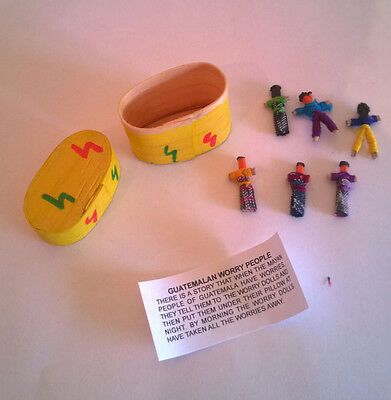 Fair Trade Guatamalan Worry Dolls in Box