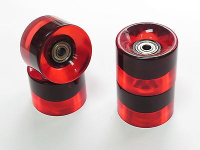 4x set 60mm 78a Red Roll Wheels for Longboard Skateboard with Abec 7 Bearing