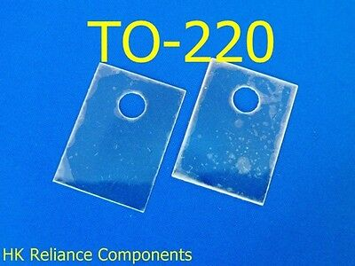 Mica Sheets TO-220 13x18mm Insulator for Transistor Heat Sink, x50 pcs