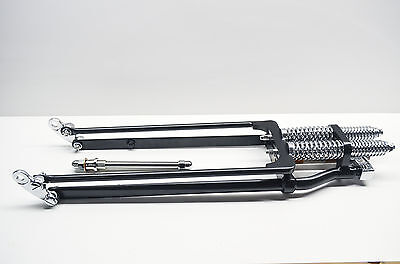 New Mid-USA Springer Front Fork Assembly W/ Axle Black NOS