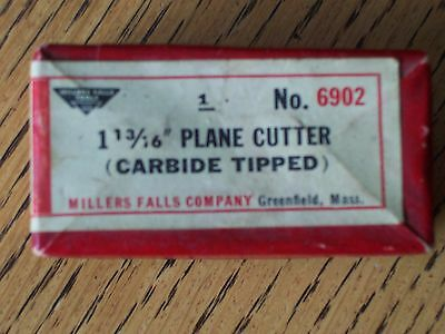 35% off-RARE ! MILLERS FALLS  #6902 CUTTER  FOR POWER PLANE  NEW- ORIGINAL PACK