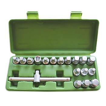 18pc Oil Drain Sump Bung Fitting Removal Set