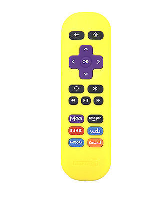 Newest Tech Replacement Remote for ROKU 1/ 2/ 3/ 4 LT HD XD XS 6 Shortcut Yellow