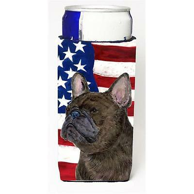 Usa American Flag With French Bulldog Michelob Ultra s For Slim Cans 12 oz.
