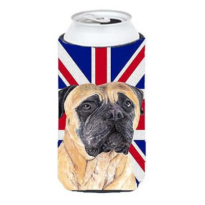 Mastiff With English Union Jack British Flag Tall Boy bottle sleeve Hugger 22...