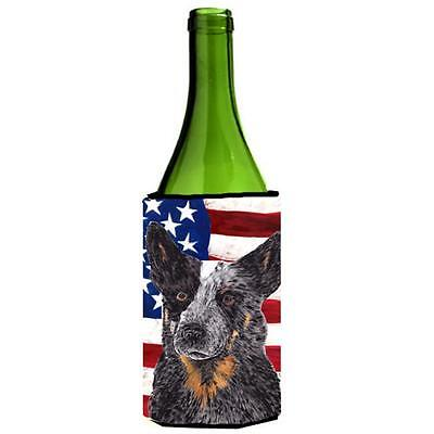 USA American Flag with Australian Cattle Dog Wine Bottle Hugger • AUD 48.26