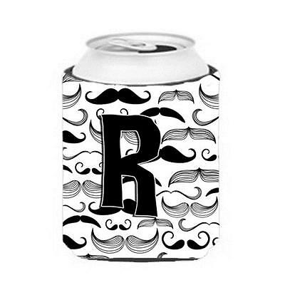 Carolines Treasures CJ2009-RCC Letter R Moustache Initial Can & Bottle Hugger