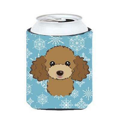 Carolines Treasures Snowflake Chocolate Brown Poodle Can & Bottle Hugger