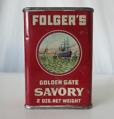 Folger's Golden Gate Savory Vintage Spice Tin, J.a. Folger & Co.