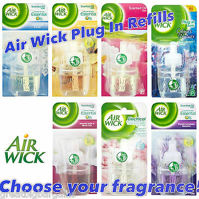 6 x AIR WICK ELECTRICAL PLUG IN AIR FRESHENER REFILLS - choose your fragrance!