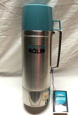 Vintage Thermos 1 Quart Stainless Steel Vacuum Bottle Model 2464H New with tags