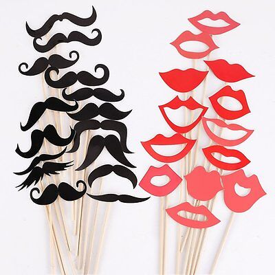 F8 Props On A Stick Mustache Photo Booth Fun Party Wedding Christmas Birthday