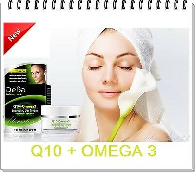 DeBa INTENSIVE Q10 + Omega3 Energizing Day Cream Argan extract & grape seed oil