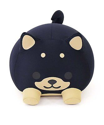 New! MOGU Cushion Pillow Plush Doll Black Cute Dog F/S from Japan with tracking