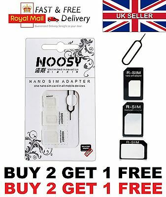 4 In 1 Pack Nano To Micro & Standard Sim Card Adapter For Iphone Samsung Apple