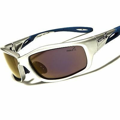 Gray Motorcycle Biker Outdoor Tactical Rectangle TR-90 Frame Sport Sunglasses