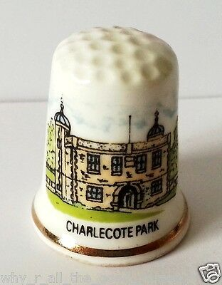 FINE BONE CHINA Sewing THIMBLE From CHARLECOTTE PARK - National Trust England UK