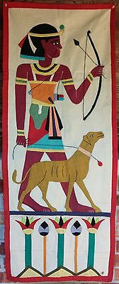 Antique Egyptian Handmade Appliqued Textile Wall Hanging